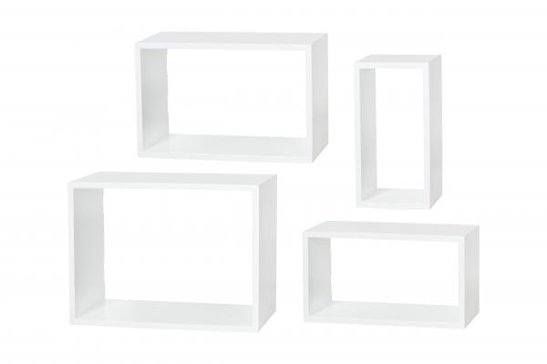 Set polica 4/1 Windows 400x300x225mm bela Dolle